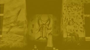 kadr z filmu aleksandry kodratiuk przedstawiający jeden z wielu wrocławskich murali