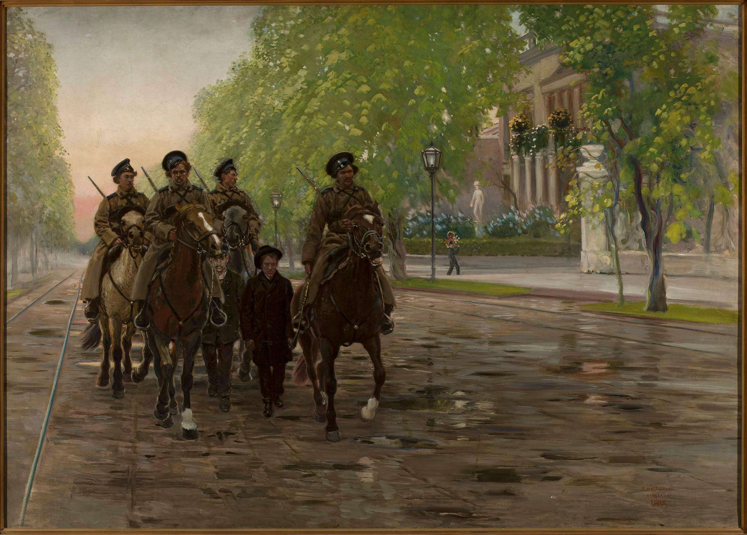 """Obraz Stanisława Masłowskiego """"Wiosna roku 1905"""""""